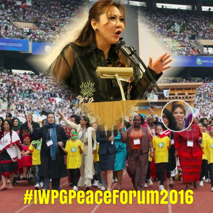 "Princess Maria Amor,  at The 2016  International Women's Peace Group's Peace Forum in Korea,  January 19,  2016,  PUT FIRE UNDER THOUSANDS OF WOMEN -asking with PASSIONATE LOVE-FURY,  ""WHERE IS THE LOVE?"""